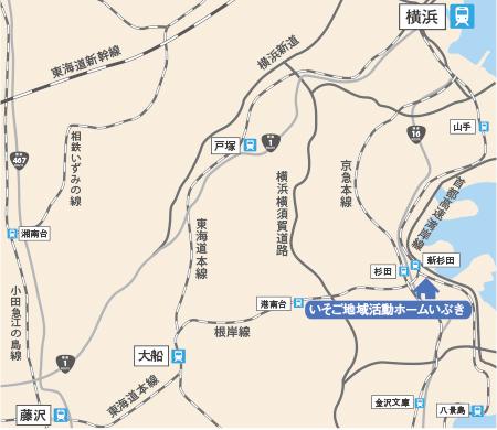 磯子地区マップ