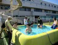 太陽の家藤の実学園より 「生活グループ園庭プール週間」の報告です!