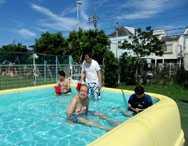 太陽の家藤の実学園より 活動グループ園庭プール週間の報告です!