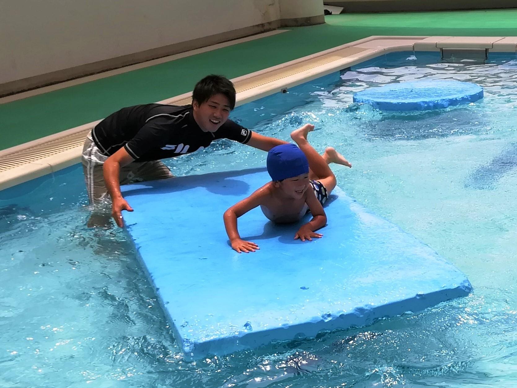 太陽の家しいの実学園より「プールに入ってきました」!その2