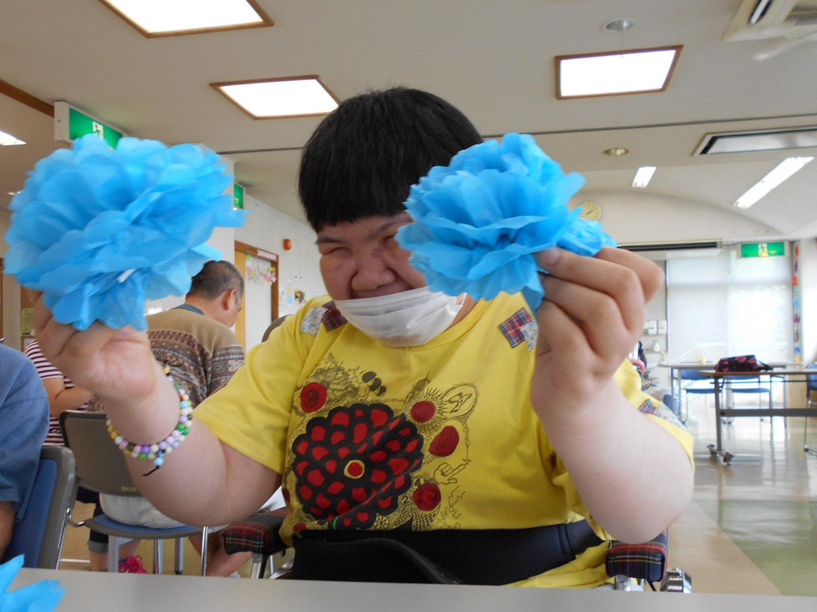 湘南希望の郷ケアセンターから「光友会村まつりの準備、頑張っています!」