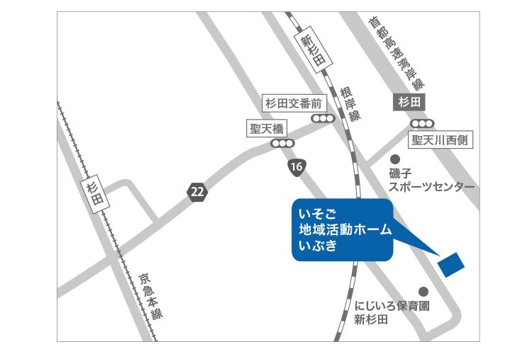 いぶきへの行き方地図