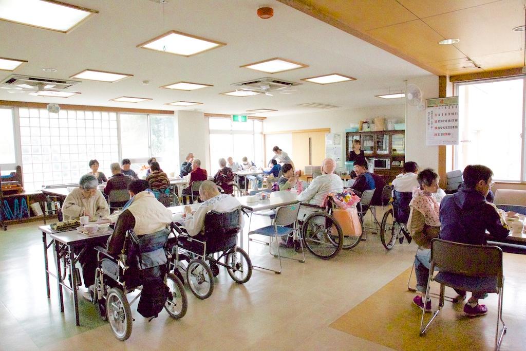 在宅支援センター食堂の俯瞰図